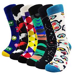 Mens Colorful Dress Socks Patterned - HSELL Men Fashionable