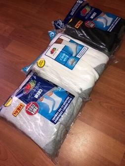 Fruit Of The Loom Mens Crew Socks 6 Pack White - Gray - Blac