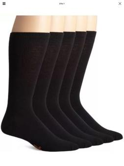 MENS DOCKER SOCKS LONG SZ 10-13 BLACK COLOR 5 PAIR MADE IN U
