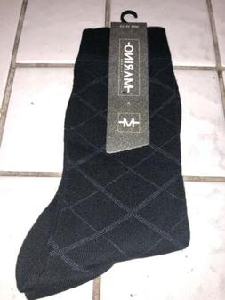 Marino Avenue Mens Dress Socks 10-13 New Black