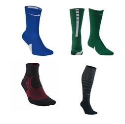 MENS NIKE ELITE SOCKS CREW DRI FIT BASKETBALL ATHLETIC CUSHI
