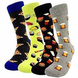 Mens Funny Food Pattern Dress Socks - HSELL Novelty Crazy De