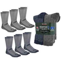 Mens Merino Wool Sock Cushioned Hiking Hunting Socks Blue an