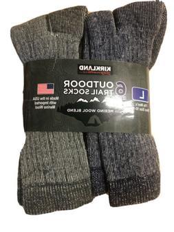 Mens Merino Wool Sock Cushioned Hiking Hunting Socks 6 Pair
