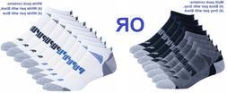 Puma Men's No Show 8 pair Sock Multicolors / White, Size 1