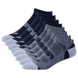 Puma Men's No Show 8 pair Sock - PICK COLOR - Regular or E