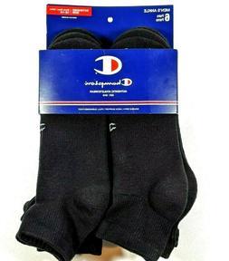 Champion Mens Performance Ankle Socks Shoe Size 12-14 XL Bla