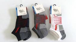 Mens Size 9-12 NEW BALANCE B DRY Socks 3 Pair BLACK WHITE No