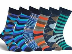 Easton Marlowe Mens Socks 6 Pack Colorful Fun Cool Patterned