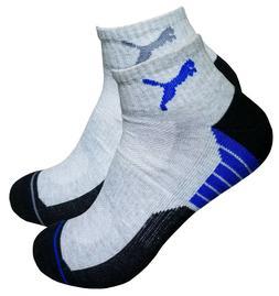mens puma athletic  quarter socks 6 pairs shoe size 6-12