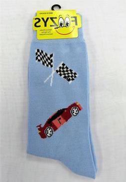 Mens Foozys Socks Race Car Racing Checker Flag Print Novelty