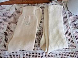 Mens Socks Two Pair Calvin Klein & Dockers`Cream~Size 8-12 B