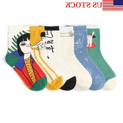 Mens Womens Series Creative Sock Novelty Funny Illustration