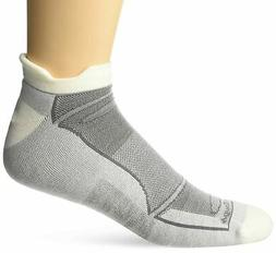 Style 1722 Medium - 6 Pack Black//Gray Darn Tough Mens No-Show Light Cushion Athletic Socks,