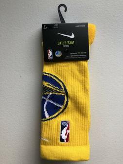 Nike NBA Golden State Warriors Elite NBA Crew Socks Yellow O