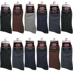 New 12 Pairs Mens Classic Dress Socks Fashion Casual Cotton
