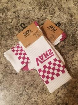 New  Vans Tall Purple Checkered Socks Unisex Men Women Kids