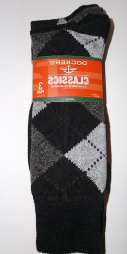 Dockers 3-pack Men's Argyle Super Soft Classic Socks Size 6-