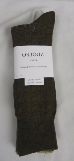 NEW Adolfo 4 Pack Patterned Dress Socks Size 6.5 - 12