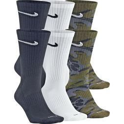 NEW Nike 6-Pack Dri-FIT Cushioned Crew Unisex Adult Socks SX