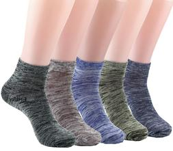 New 6 Pairs Mens Womens Ankle Quarter Crew Socks Cotton Stre