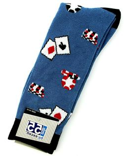 New Fun Mens Deck of Cards and Chips Socks Casual Novelty Ne