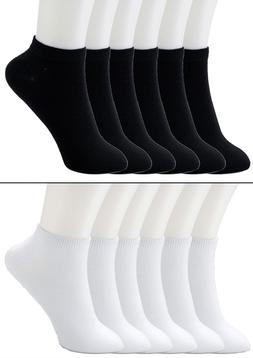 New Lot 6-12 Pairs Mens Womens Ankle Socks Cotton Low Cut Ca