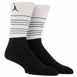 NEW Men's Nike Air Jordan Retro 13 Crew Socks SX6077-010 Bla