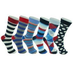 NEW Alpine Swiss Men's Cotton 6 Pack Dress Socks Solid Ribbe