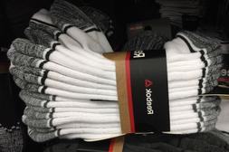 New Men's REEBOK Low Cut Sport Performance Socks White Runni