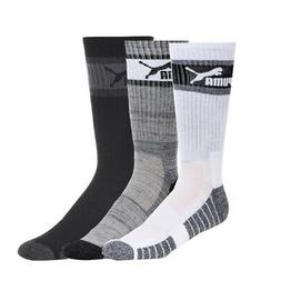 NEW PUMA MEN'S 3-PACK ½ TERRY ATHLETIC CASUAL CREW SOCKS