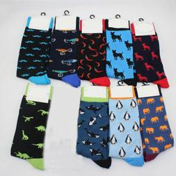 New Mens Socks Animal Chili Moustache Dinosaur Socks Men's B