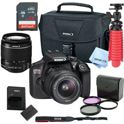 New Canon Rebel T6 SLR Camera Premium Kit w/ 18-55 Lens, bag