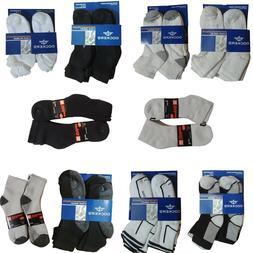 New Socks Men 12 Pair Pack Branded Black White Grey Fit Ever