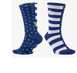 Nike Air Jordan 7 Crew Olympic Socks Blue White & Gold Men's