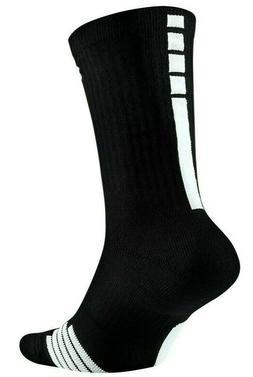 Nike Dri-Fit Elite Socks Black Training Crew Large Men's 8-1