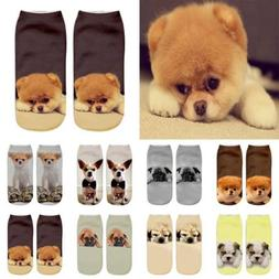 Novelty Funny 3D Dog Men Womens Socks Animal Pug Chihuahua P