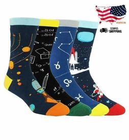 Happypop Novelty Funny Crazy Crew Socks for Men Colorful Fun