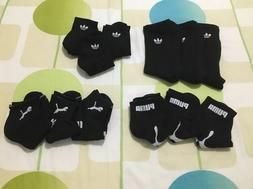 NWOB Men's Socks 3 Pairs Adidas/Puma Crew/Quarter/Low Cut/No