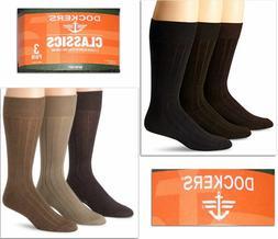 NWT Dockers 3-pack Men's Super Soft Classics Socks Fits Shoe