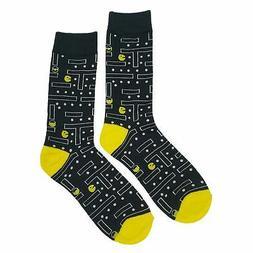 NWT Arcade Game Dress Socks Novelty Men 8-12 Black Fun Sockf