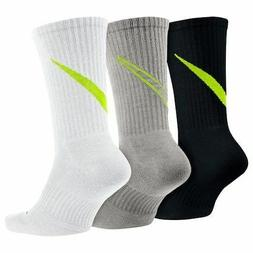 NWT NIKE DRI-FIT COTTON CUSHIONED SOFT DRY 3x SOCKS CREW MEN