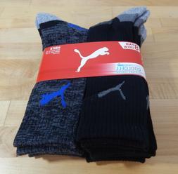 NWT Men's Puma Cool Cell Moisture COntrol Crew Socks-6 Pair-