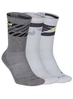 NWT Men's Nike 3-Pack Dri-Fit Cushioned Crew Socks MSRP $2
