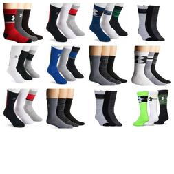 NWT!!! UNDER ARMOUR MENS/Youth TRAINING 3PACK CREW SOCKS Var