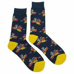 NWT Squirrel Canoe Dress Socks Novelty Men 8-12 Black Fun So