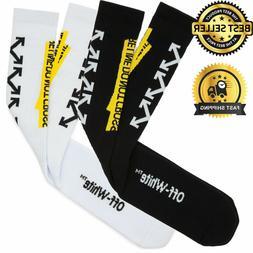 OFF WHITE Fire Line Unisex Sport Socks Industrial OW Diagona