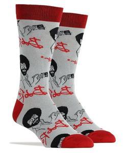 Oooh Yeah! Socks Men's Crew Novelty Socks, It's Bob Ross, Gr