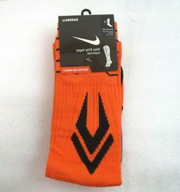 Orange Nike ELITE VAPOR Cushioned Athletic Socks Size XLarge