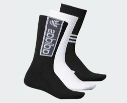 Adidas Originals 3 Pack Trefoil Logo Crew Socks CJ7684 Men's
